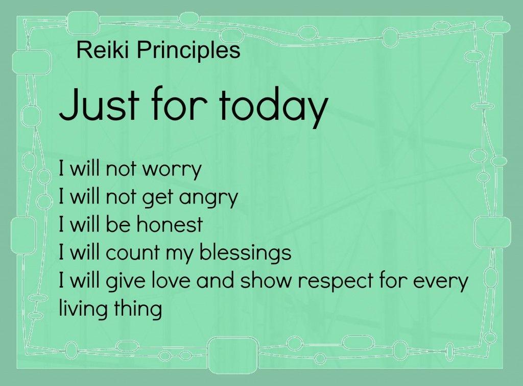 The 5 Reiki Priniciples