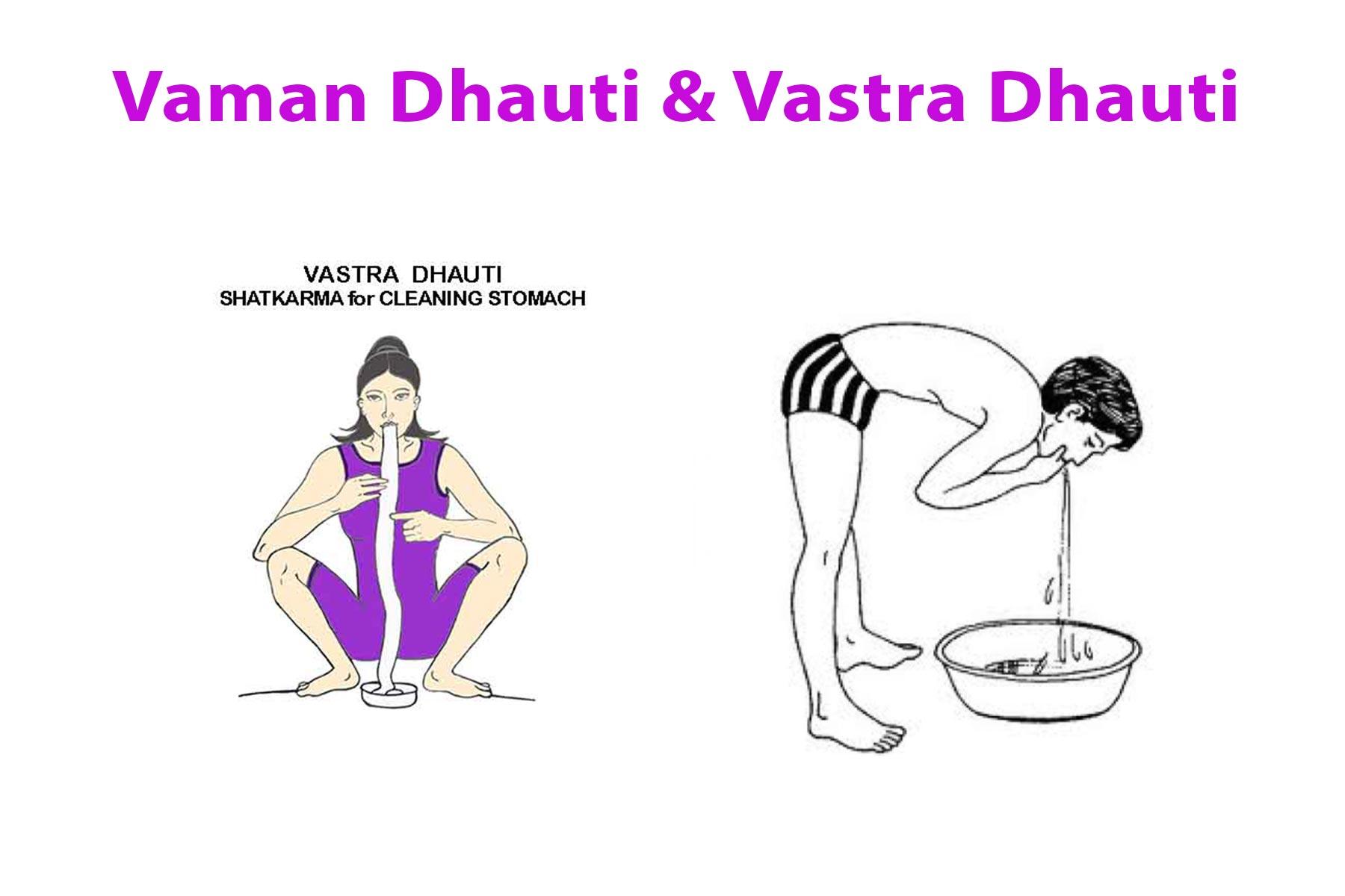 Vaman Dhauti : Yoga Kriya & Vastra Dhauti